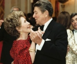 UNDATED: (FILE PHOTO)  Former U.S. President Ronald Reagan dances with former First Lady Nancy Reagan in this undated file photo. Reagan turns 92 on February 6, 2003.  (Photo courtesy of the Ronald Reagan Presidental Library/Getty Images)